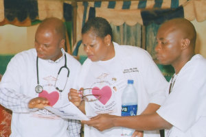 three medical staff